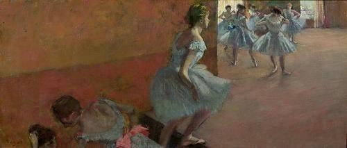 tableaux-de-personnages - Tableau -Danseurs montant un escalier, c.1886-88- - Degas, Edgar