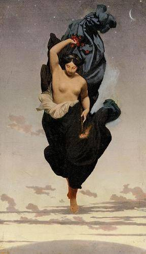 tableaux-de-personnages - Tableau -Night, c.1850-55 (oil on canvas).- - Gerome, Jean Leon