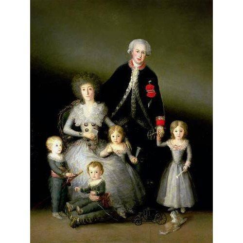 Tableau -El Duque de Osuna y su familia, 1788-