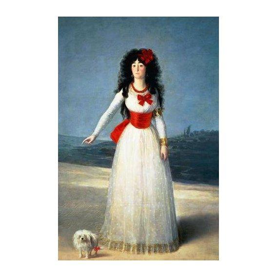 pinturas do retrato - Quadro -La Duquesa de Alba, 1795-