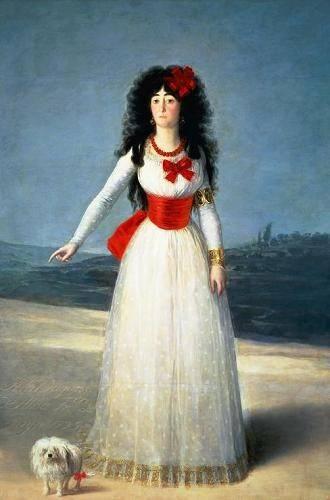 tableaux-de-personnages - Tableau -La Duquesa de Alba, 1795- - Goya y Lucientes, Francisco de