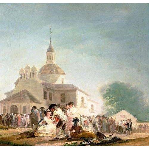 Tableau -La Ermita de San Isidro, Madrid, 1788-