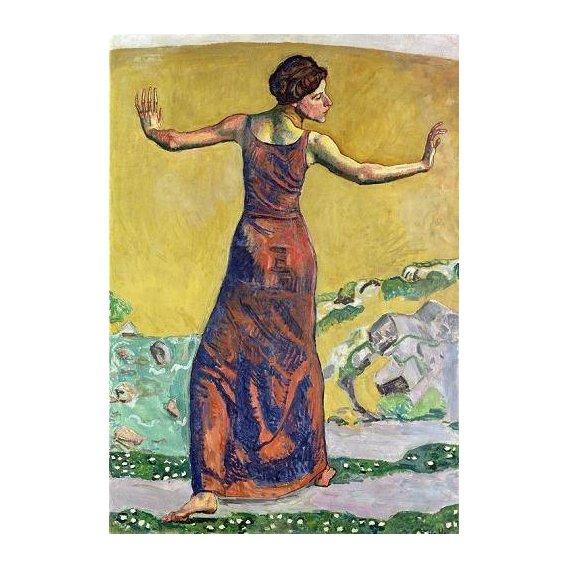 pinturas do retrato - Quadro -Femme Joyeuse (oil on canvas).-
