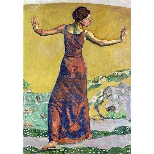 Tableau -Femme Joyeuse (oil on canvas).-