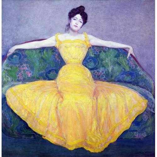 Tableau -Lady in a Yellow Dress, 1899-