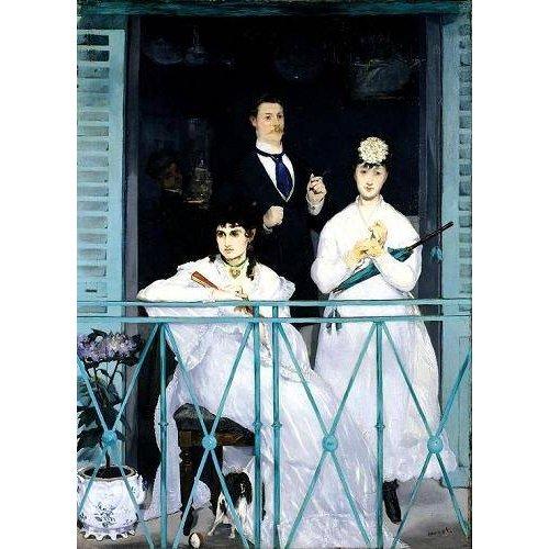 Tableau -Le balcon, 1868-9 (oil on canvas).-