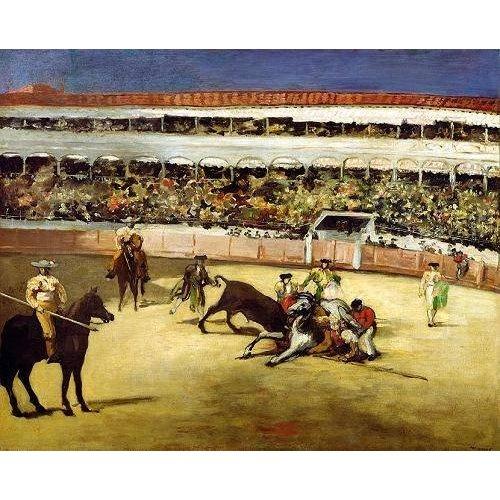 Tableau -Combat de taureaux, 1865 -