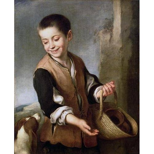 Tableau -Muchacho con un perro, c.1650-
