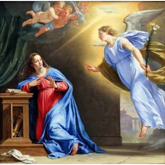 Tableaux religieuses - Tableau -L'annonciation- - Champaigne, Philippe de