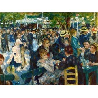 Tableau -Le Bal du moulin de la Galette, 1876-