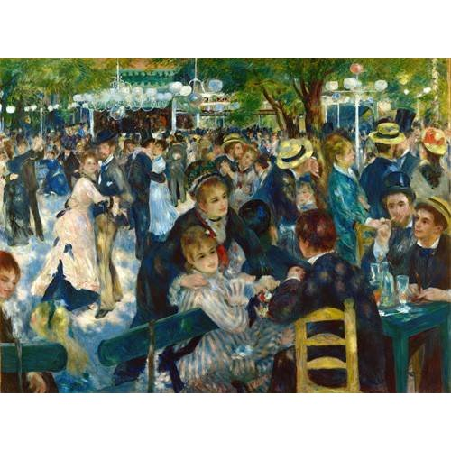 pinturas do retrato - Quadro -Ball at the Moulin de la Galette, 1876-