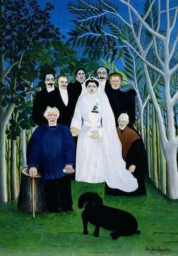 tableaux-de-personnages - Tableau -The Wedding Party, 1904-05- - Rousseau, Henri