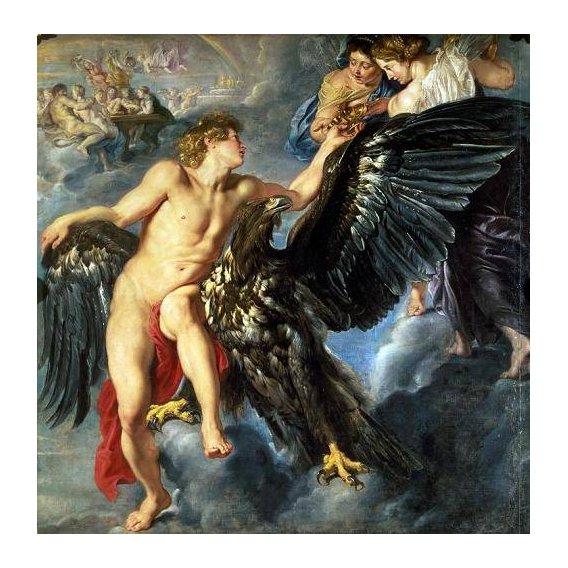 pinturas do retrato - Quadro -The Kidnapping of Ganymede-