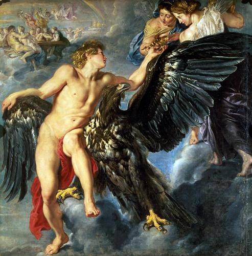 tableaux-de-personnages - Tableau -The Kidnapping of Ganymede- - Rubens, Peter Paulus