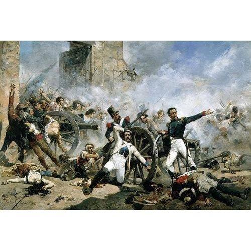 pinturas do retrato - Quadro -El Dos de Mayo en Madrid, 1884.-