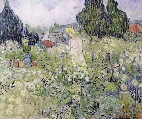 tableaux-de-personnages - Tableau -Mademoiselle Gachet dans son jardin à Auvers- - Van Gogh, Vincent