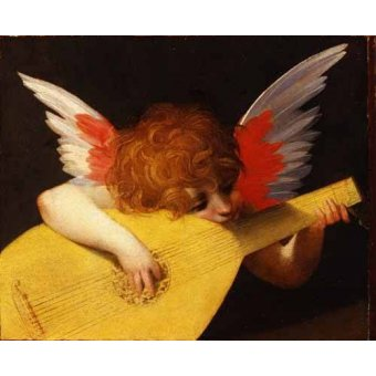 Tableaux religieuses - Tableau -Angel tocando el laúd- - Fiorentino, Rosso