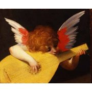Tableau -Angel tocando el laúd-