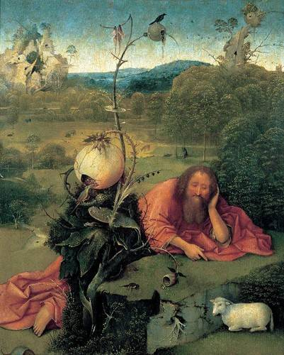 tableaux-religieuses - Tableau -San Juan Bautista en meditación- - Bosco, El (Hieronymus Bosch)