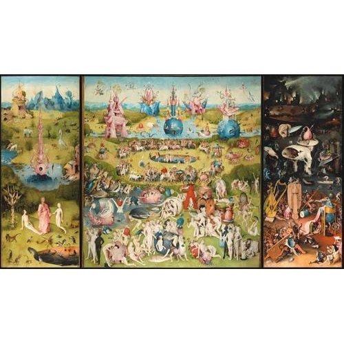 pinturas de paisagens - Quadro -El Jardin De Las Delicias (Tríptico completo).-