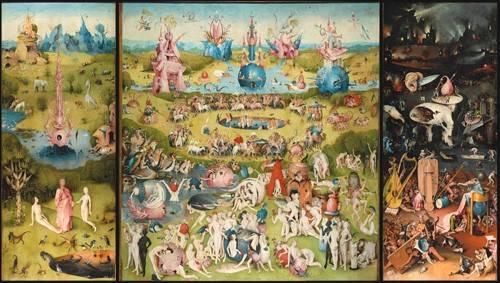 tableaux-de-paysages - Tableau -Le Jardin des délices (plein tripty)- - Bosco, El (Hieronymus Bosch)