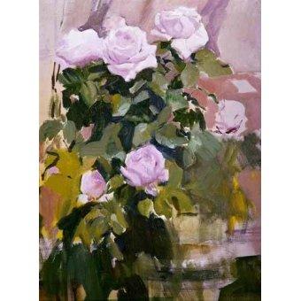 Tableaux de Fleurs - Tableau -Des roses- - Sorolla, Joaquin