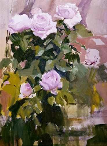 tableaux-de-fleurs - Tableau -Des roses- - Sorolla, Joaquin