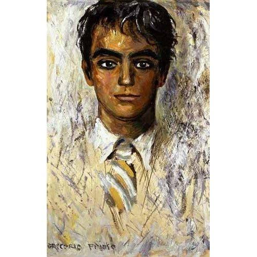pinturas do retrato - Quadro -Retrato de Federico Garcia Lorca-