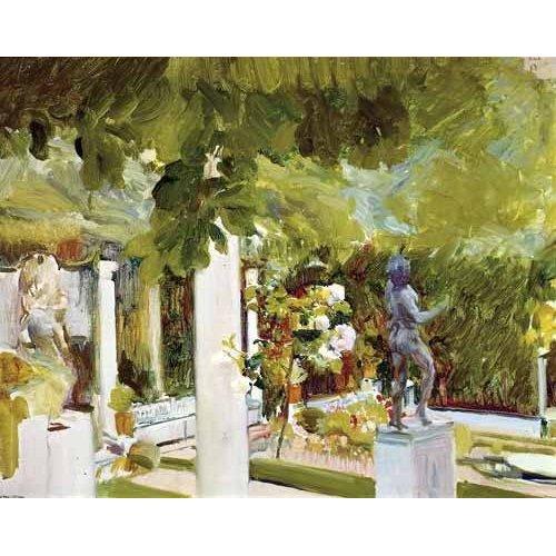 pinturas de paisagens - Quadro -Jardin de la casa del artista (II)-