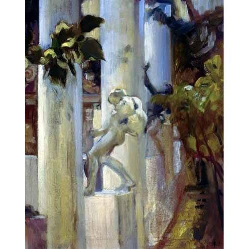 pinturas de paisagens - Quadro -Jardin de la casa del artista (III)-