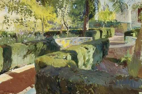 tableaux-de-paysages - Tableau -Jardin de la maison de l'artiste (IV)- - Sorolla, Joaquin