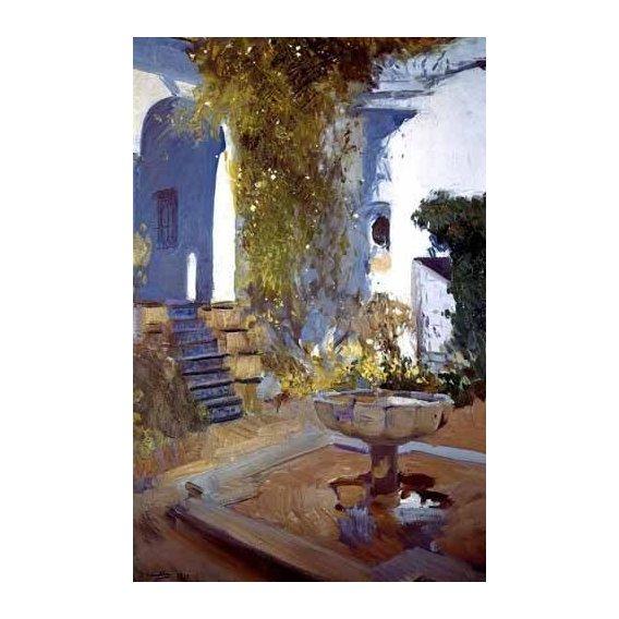 pinturas de paisagens - Quadro -Jardin de la casa del artista (V)-