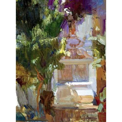 pinturas de paisagens - Quadro -Jardin de la casa del artista (VII)-