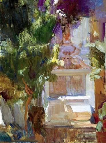 tableaux-de-paysages - Tableau -Jardin de la maison de l'artiste (VII)- - Sorolla, Joaquin