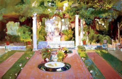 tableaux-de-paysages - Tableau -Jardin de la maison de l'artiste (VIII)- - Sorolla, Joaquin