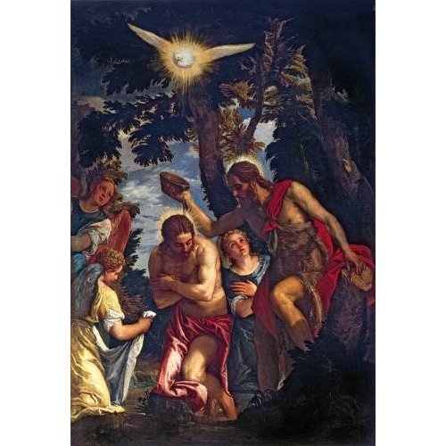 imagens religiosas - Quadro -El Bautismo De Cristo-