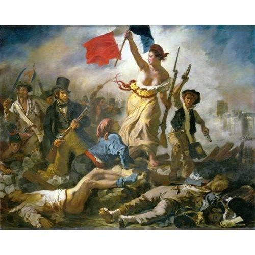 pinturas do retrato - Quadro -28 de Julio, La Libertad Guiando Al Pueblo-