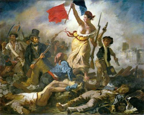 tableaux-de-personnages - Tableau -Le 28 Juillet: La Liberté guidant le peuple- - Delacroix, Eugene