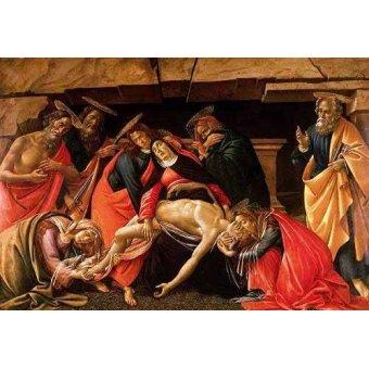 Tableaux religieuses - Tableau -Lamentación de Cristo- - Botticelli, Alessandro