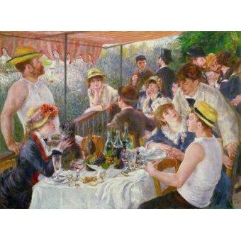 Tableaux de Personnages - Tableau -Le Déjeuner des canotiers, 1881- - Renoir, Pierre Auguste
