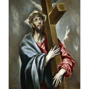 Tableaux religieuses - Tableau -Cristo portando la Cruz- - Greco, El (D. Theotocopoulos)