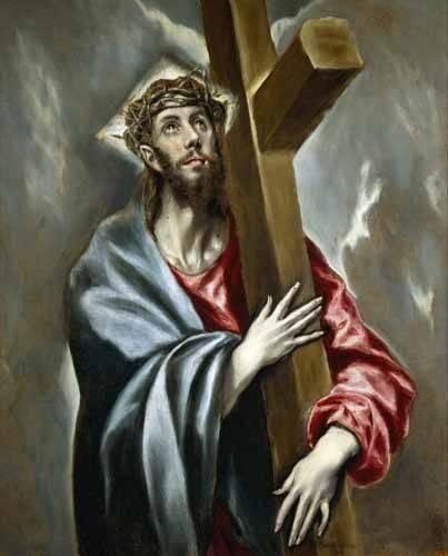 tableaux-religieuses - Tableau -Cristo portando la Cruz- - Greco, El (D. Theotocopoulos)