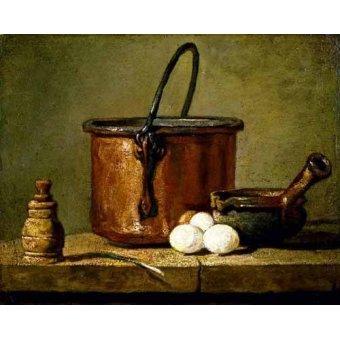Tableaux nature morte - Tableau - Ustensiles de cuisine - - Chardin, Jean Bapt. Simeon