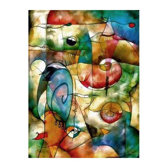 pinturas abstratas - Quadro -Moderno CM1278-