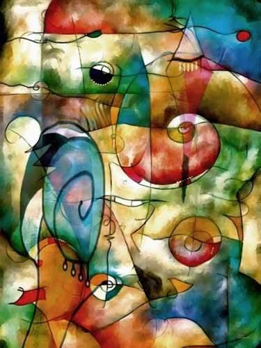 tableaux-abstraits - Tableau -Moderno CM1278- - Medeiros, Celito