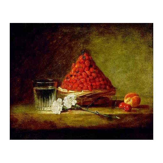naturezas mortas - Quadro -Cesto con fresas salvajes-