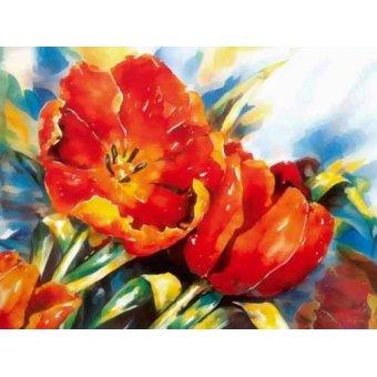 Tableaux de Fleurs - Tableau -Moderno CM1373- - Medeiros, Celito