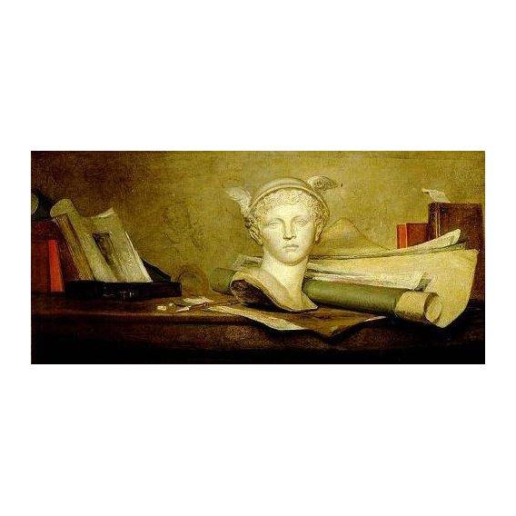 naturezas mortas - Quadro -Still Life with Attributes of the Arts-