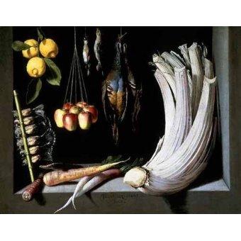 Tableaux nature morte - Tableau -Caza, fruta y hortalizas - - Cotan, Juan Sanchez