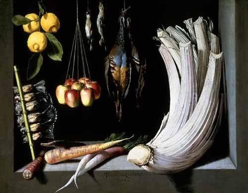 tableaux-nature-morte - Tableau -Caza, fruta y hortalizas - - Cotan, Juan Sanchez